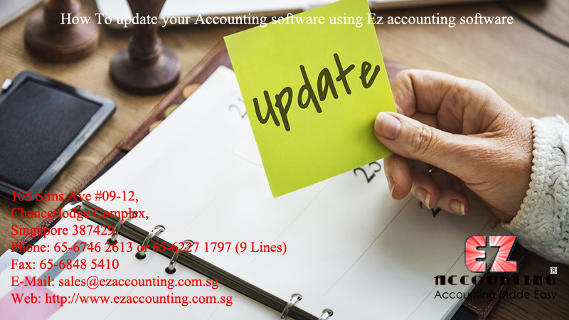 How To update your Accounting software using Ez accounting software