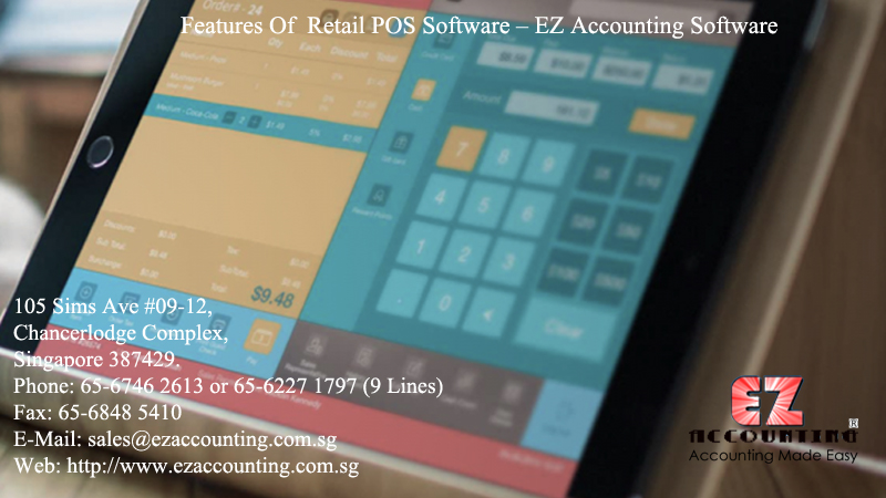 Features Of Retail POS Software – EZ Accounting Software