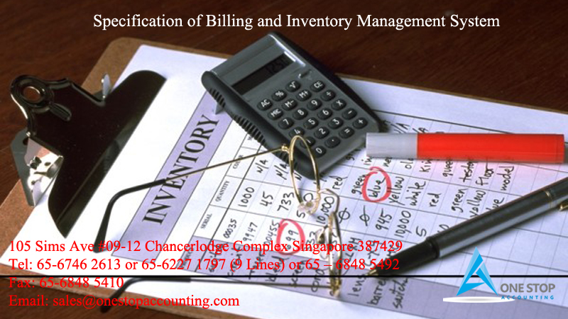 Specification of Billing and Inventory Management System