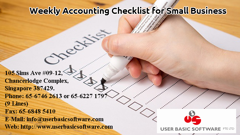 Weekly Accounting Checklist for Small Business