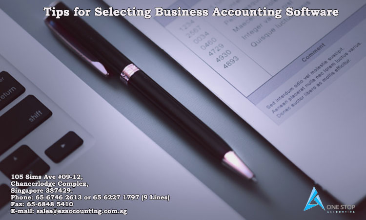 Tips for Selecting Business Accounting Software