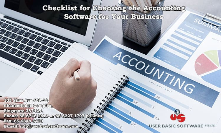 Checklist For Choosing The Accounting Software For Your Business