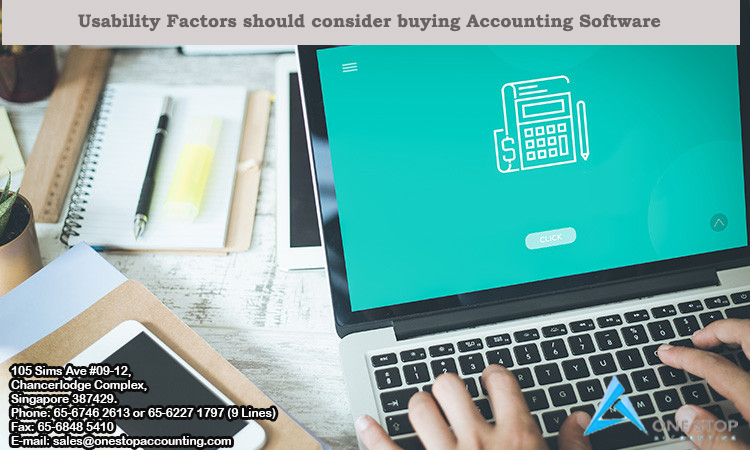 Usability Factors should consider buying Accounting Software